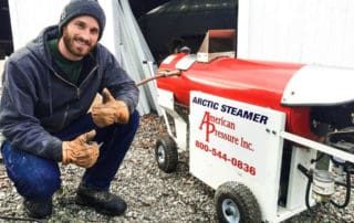 Arctic Steamer - safe ice and snow removal on gutters and roofs