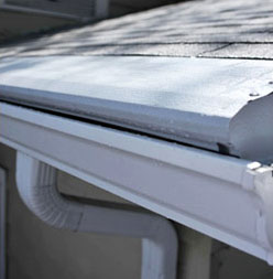 Gutter Helmet installed on gutters of a house